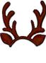 Brown Dark-Reindeer Headband