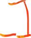 Orange-Contour short
