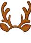 Brown Light-Reindeer Headband