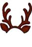 Dark--Reindeer Headband