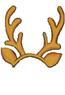 Yellow-Reindeer Headband